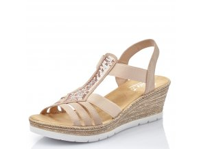 rieker damen sandalette rosa 61913 31 7