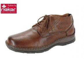 Rieker- Pánské kožené kotníkové boty s membránou RiekerTex 05349-24/hnědá