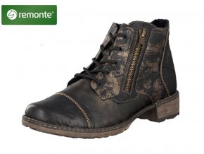 remonte by rieker women lace up boot black d4378 02 10