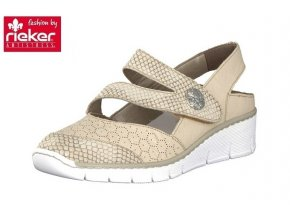 rieker women slip on shoe beige 53785 64 7
