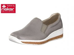 rieker damen slipper grau 59766 42 7