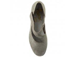 Rieker-dámské lodičky s páskem okolo nohy 41793-42/šedá