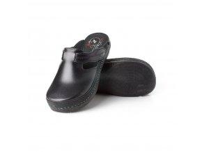 0048315 batz flower black damske zdravotni pantofle