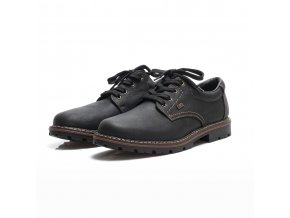 rieker men lace up shoe black 17710 01 7