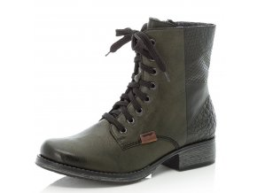 rieker women lace up boot green y9718 52