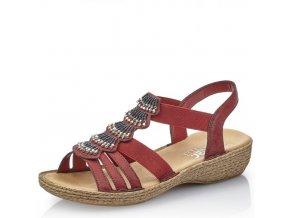 Dámské sandály Rieker 65869-35 Red j/l9
