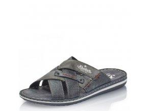 Pánské pantofle Rieker 21062-15 tmavě modrá j/l9