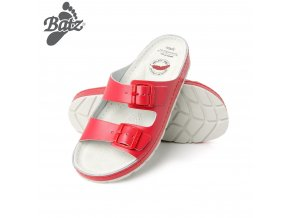 0048292 batz zenna red damske zdravotni pantofle