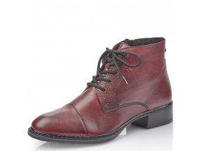Dámské kotníkové zimní boty Rieker 73420-35 bordová p/z9