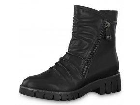 Tamaris-dámské kotníkové boty na bytelné podrážce 1-25431-21/černá p/z8