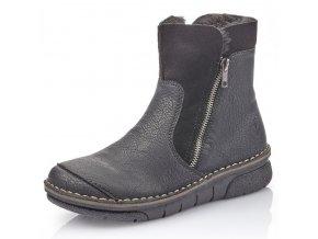 Dámské kotníkové boty Rieker 73381-00 černá p/z9