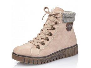 Dámské kotníkové zimní boty Rieker Y3440-31 růžová p/z9