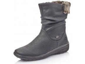 Dámské kotníkové zimní boty Rieker Z7088-00 černá p/z9