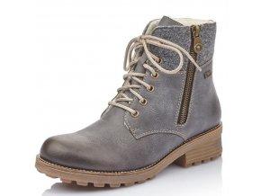 Dámské kotníkové zimní boty Rieker Z0441-45 šedá p/z9