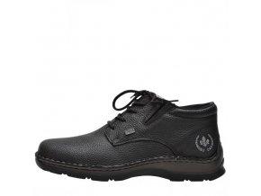 Rieker- Pánské kožené kotníkové boty s membránou RiekerTex 05334-00/černá  p/z8