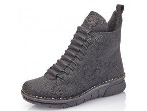 Dámské kotníkové zimní boty Rieker 73333-00 černá p/z9