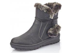 Dámské kotníkové boty Rieker Y5460-00 černá p/z9