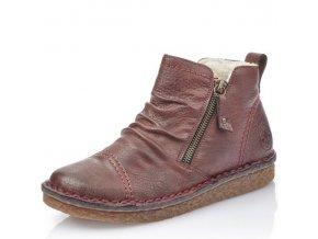 Dámské zimní boty Rieker 70952-35 bordová p/z9