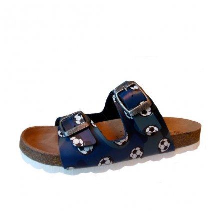 Rega shoes detské šlapky C463 blue footbal