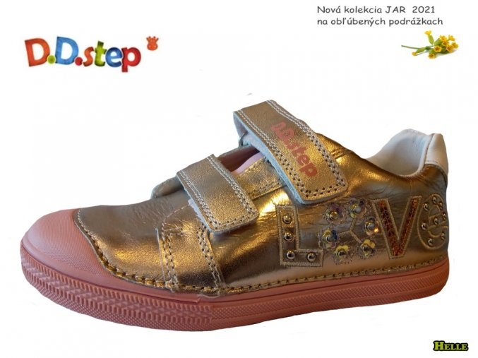 D.D.Step 221-049-995 detská obuv champagne