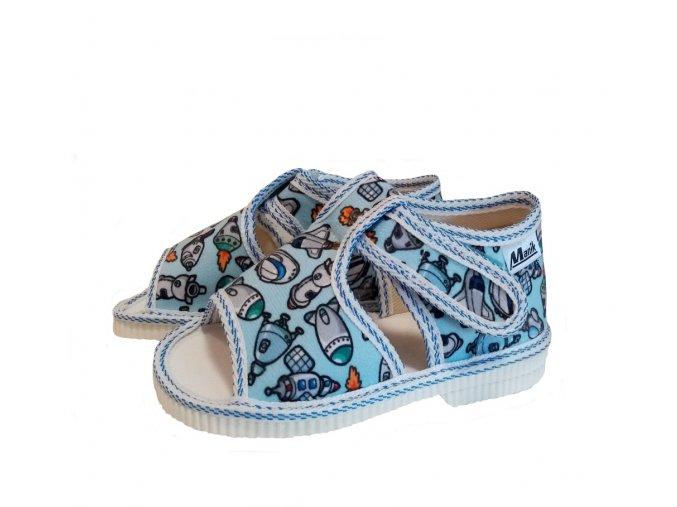 Manik detské papučky 095/1S grafic