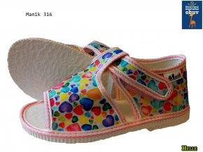 Manik detské papučky 035/2S dáždnik