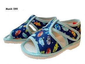Manik detské papučky 099/1S autíčka