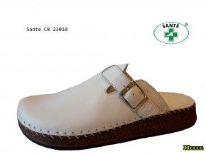 Santé CB23010 WHITE dámske šlapky