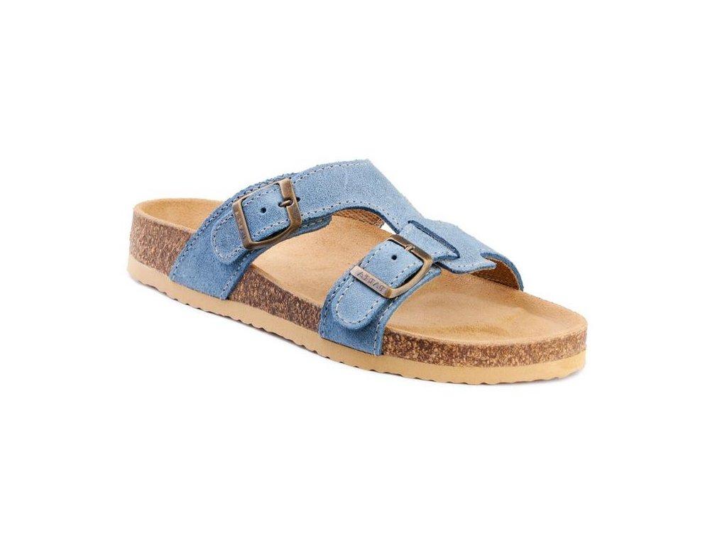 f30a4be20dd8 Barea ortopedické pantofle v modré barvě - Obuv Luna - Miluše Liznová