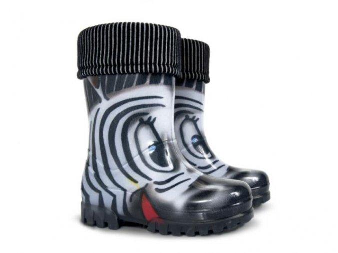 Zateplené holínky Demar - zebra