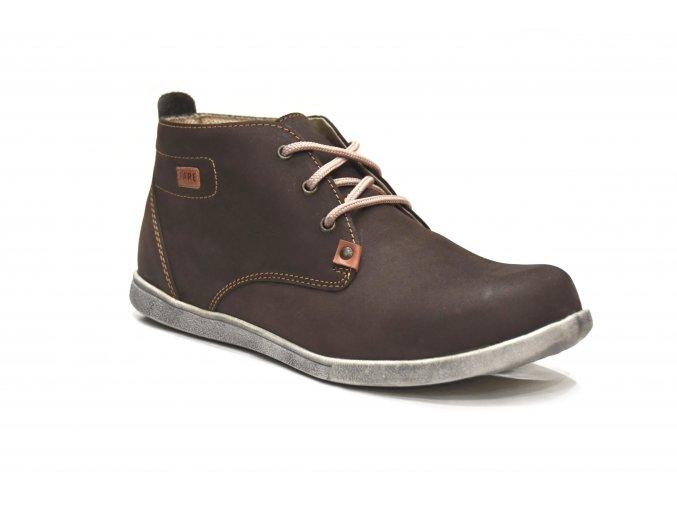 Fare kotníková kožená obuv 2295221