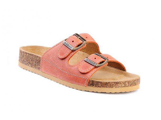 Barea ortopedické pantofle  v oranžové barvě