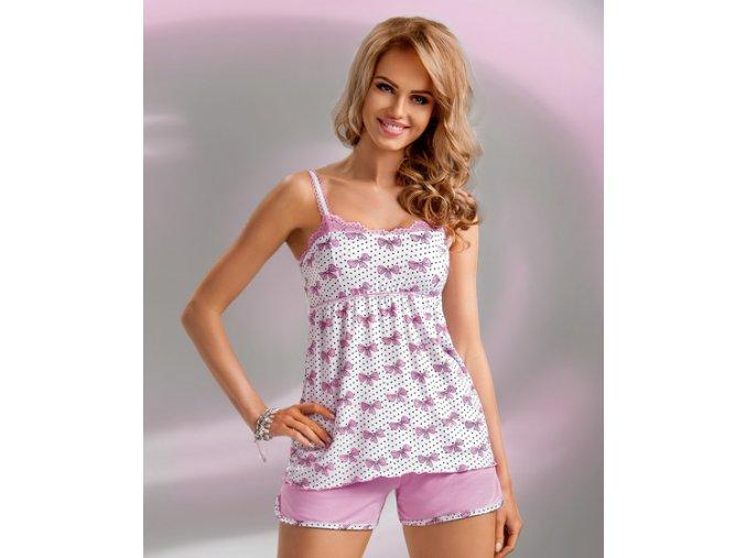Donna dámské pyžamo Tifani 1/2 růžová