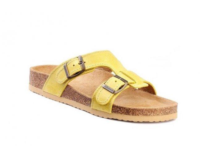 Barea ortopedické pantofle ve žluté barvě