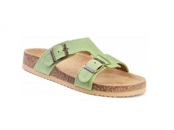 Barea ortopedické pantofle  v zelené barvě