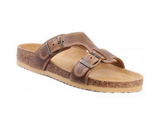 Barea pantofle v hnědé barvě