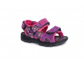 Kožené sandály Imac ve fialovo růžové kombinaci