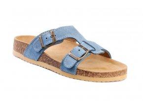 Barea ortopedické pantofle v modré barvě