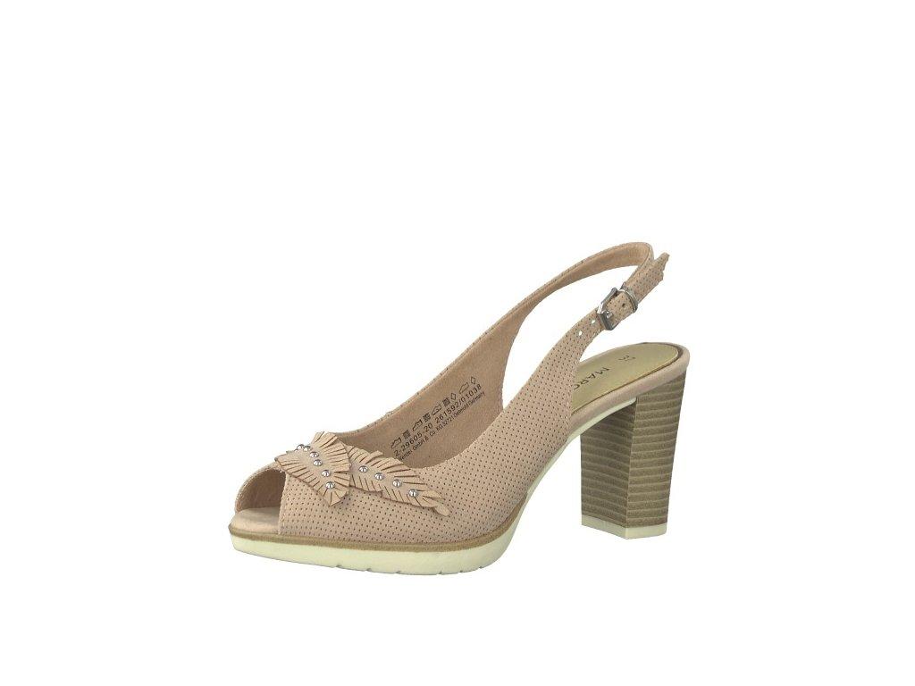 Dámské sandály Marco Tozzi 2-29605/20 (Barva béžová, Velikost 41)