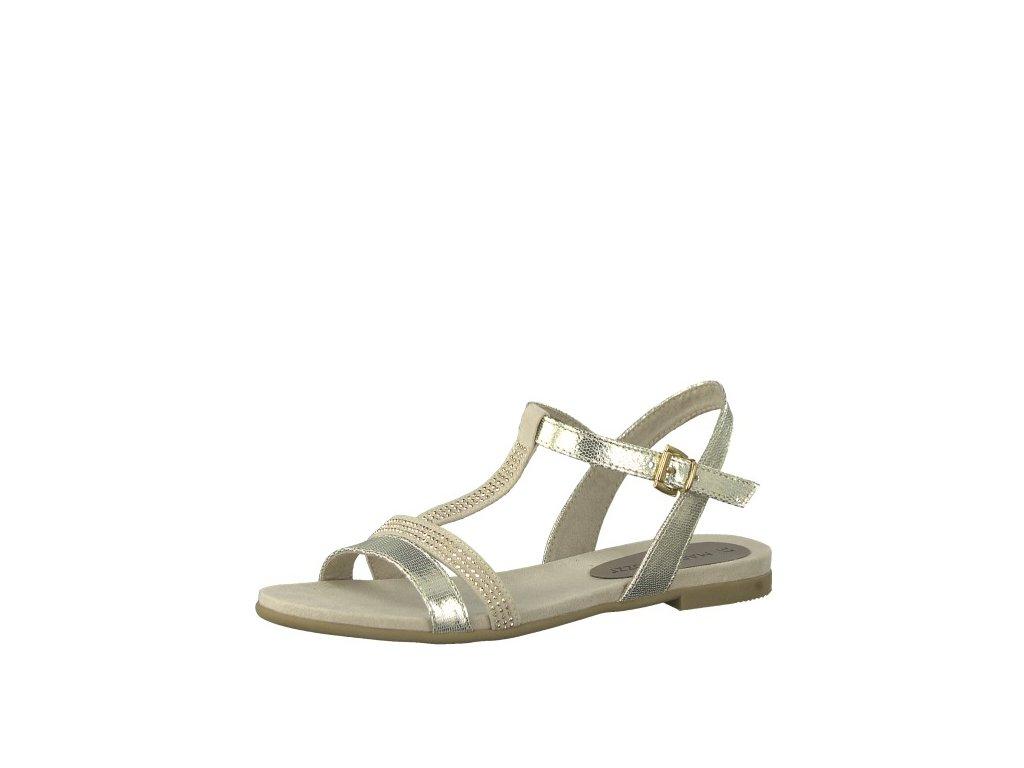 Dámské sandály Marco Tozzi 2-28124/20 (Barva zlatá, Velikost 41)