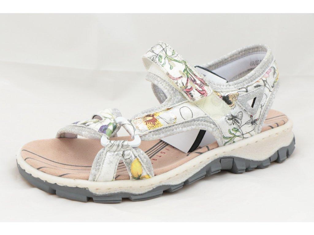 Dámské sandály Rieker 68879-90 (Barva kytička, Velikost 39)
