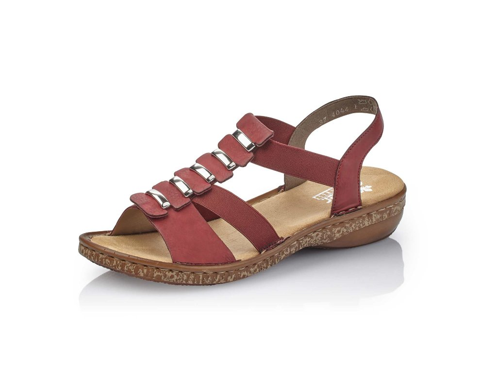 Dámské sandály Rieker 62850-35 (Barva červená, Velikost 40)