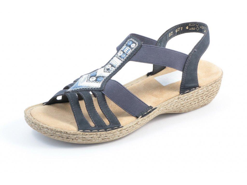 Dámské sandály Rieker 65807-14 (Barva Modrá, Velikost 43)