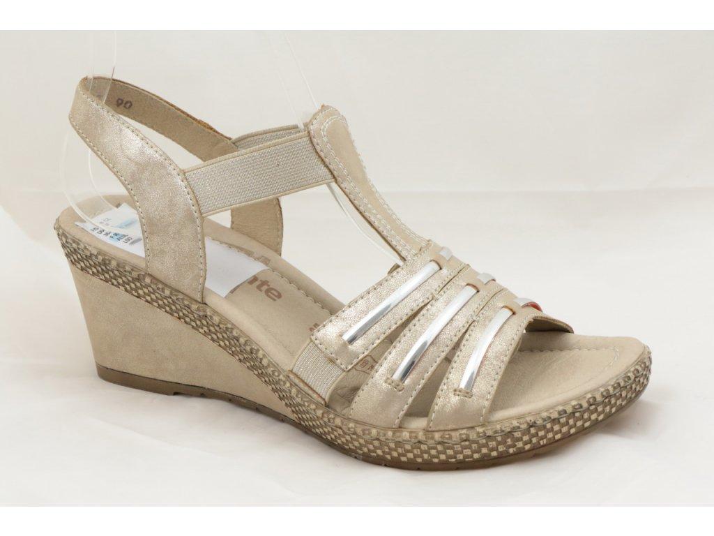 Dámské sandály Rieker D0457-90 (Barva béžová, Velikost 41)