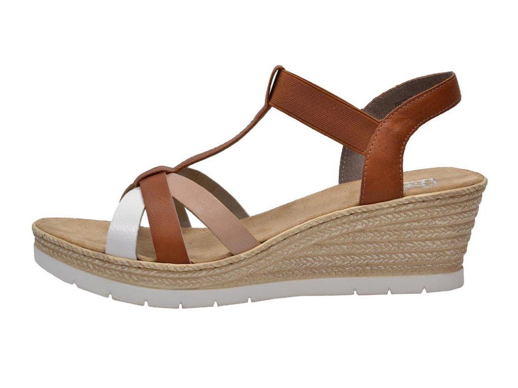 Dámské sandály Rieker 61995-81 (Barva hnědá, Velikost 40)