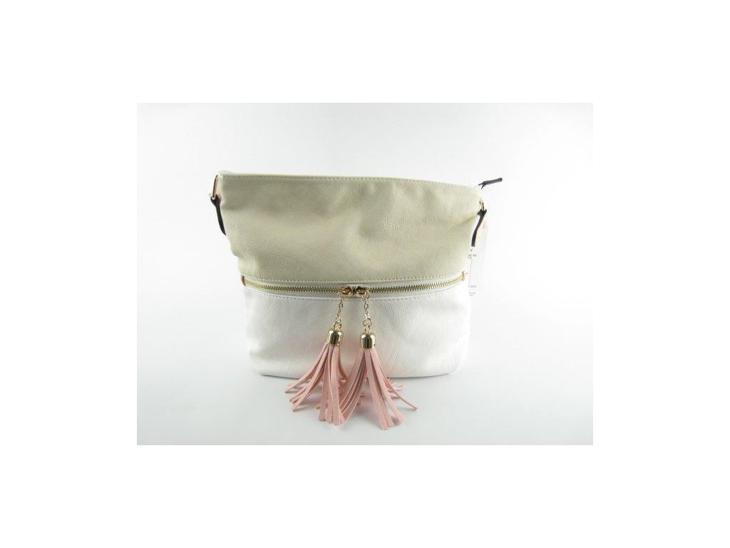 Dámská kabelka F8 350-63 (Barva Bílá)