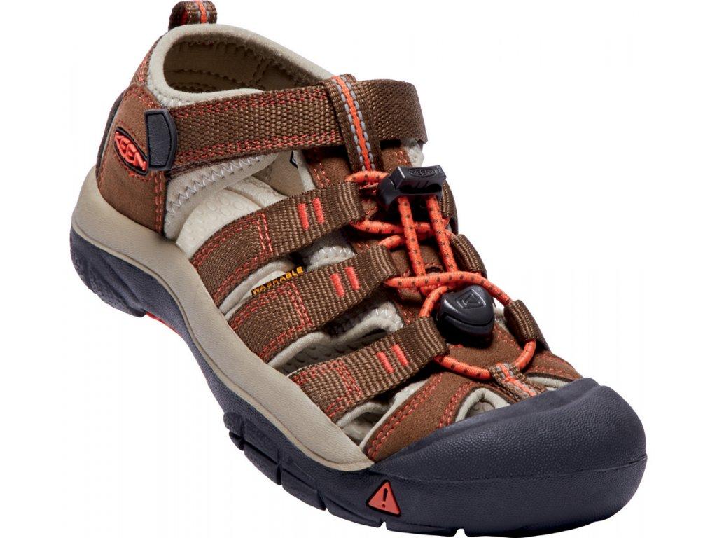 Dětské a dámské boty Keen NEWPORT EARTH (Barva hnědá, Velikost 36)