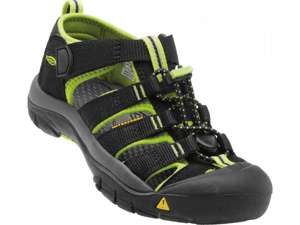 Dětské a dámské boty Keen NEWPORT LIME (Barva černá, Velikost 37)