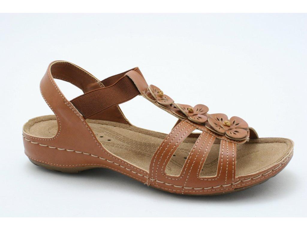 Dámské sandály EFFE TRE 8504 (Barva hnědá, Velikost 41)