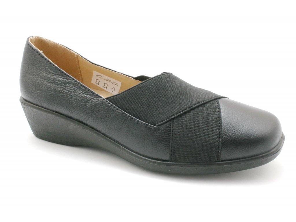 Dámská obuv EFFE TRE NEW1805 kožené (Barva černá, Velikost 41)
